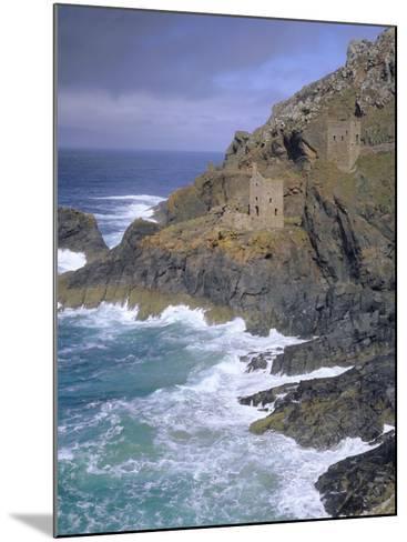 Tin Mine on Coast, Botallack, Cornwall, England, UK, Europe-John Miller-Mounted Photographic Print