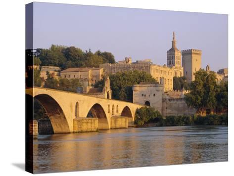 Pont St. Benezet Bridge and Papal Palace, Avignon, Provence, France, Europe-John Miller-Stretched Canvas Print