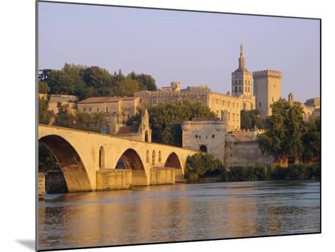 Pont St. Benezet Bridge and Papal Palace, Avignon, Provence, France, Europe-John Miller-Mounted Photographic Print
