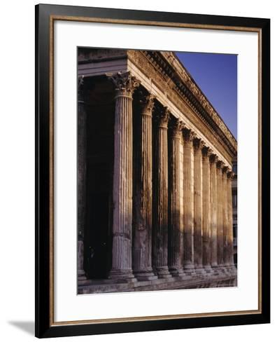Maison Carre, Roman Building, Nimes, Languedoc, France, Europe-John Miller-Framed Art Print