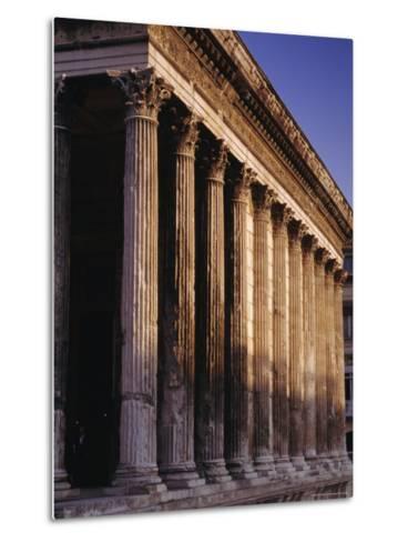 Maison Carre, Roman Building, Nimes, Languedoc, France, Europe-John Miller-Metal Print