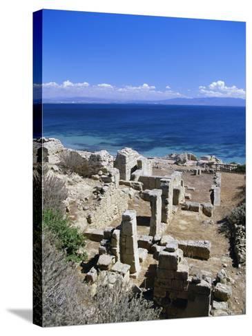 Roman Ruins, Tharros, Near Oristano, Sardinia, Italy, Europe-John Miller-Stretched Canvas Print