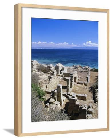 Roman Ruins, Tharros, Near Oristano, Sardinia, Italy, Europe-John Miller-Framed Art Print
