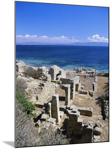 Roman Ruins, Tharros, Near Oristano, Sardinia, Italy, Europe-John Miller-Mounted Photographic Print