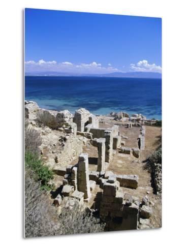 Roman Ruins, Tharros, Near Oristano, Sardinia, Italy, Europe-John Miller-Metal Print
