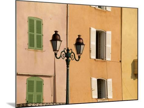 Street Lamp and Windows, St. Tropez, Cote d'Azur, Provence, France, Europe-John Miller-Mounted Photographic Print