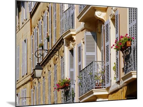 Shutters and Balconies, Aix En Provence, Provence, France, Europe-John Miller-Mounted Photographic Print