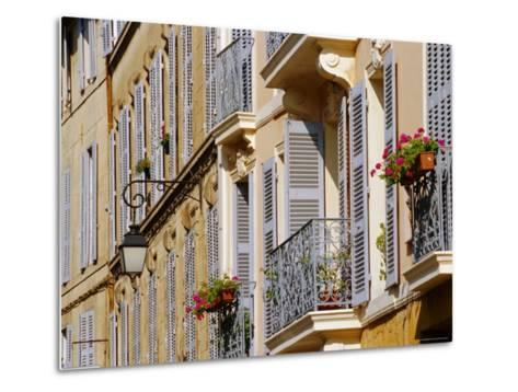 Shutters and Balconies, Aix En Provence, Provence, France, Europe-John Miller-Metal Print