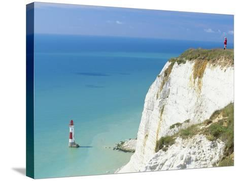 Beachy Head and Lighthouse on Chalk Cliffs, East Sussex, England, UK, Europe-John Miller-Stretched Canvas Print
