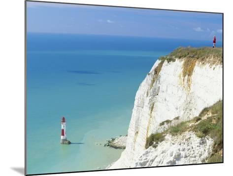 Beachy Head and Lighthouse on Chalk Cliffs, East Sussex, England, UK, Europe-John Miller-Mounted Photographic Print