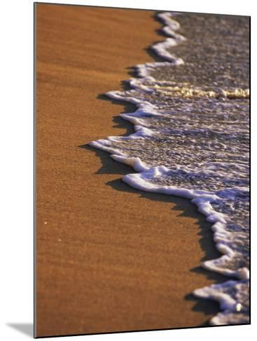 Close-up of Surf on a Sandy Beach-John Miller-Mounted Photographic Print