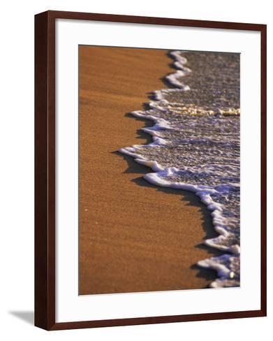 Close-up of Surf on a Sandy Beach-John Miller-Framed Art Print