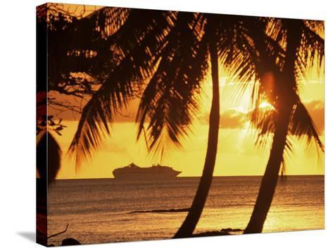 Cruise Liner, Caribbean-John Miller-Stretched Canvas Print