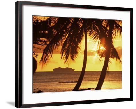 Cruise Liner, Caribbean-John Miller-Framed Art Print