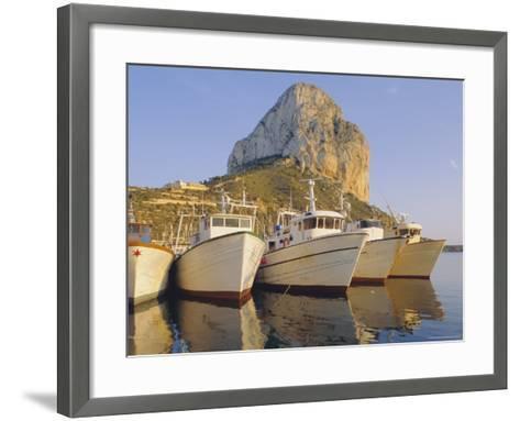 Calpe, Penon De Ifach in Background, Costa Blanca, Valencia, Spain, Europe-John Miller-Framed Art Print