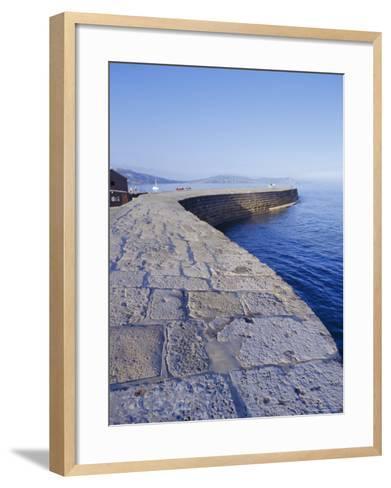 The Cobb, Lyme Regis, Dorset, England-John Miller-Framed Art Print