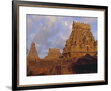 The Brihadeshwara (Brihadishwara) Temple, Built in 1000 AD, at Tanjore, Tamil Nadu, India-David Beatty-Framed Art Print