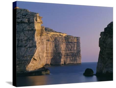 Coastline in the Evening at Dwejra, Gozo, Malta, Mediterranean, Europe-Fred Friberg-Stretched Canvas Print