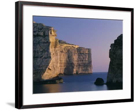 Coastline in the Evening at Dwejra, Gozo, Malta, Mediterranean, Europe-Fred Friberg-Framed Art Print