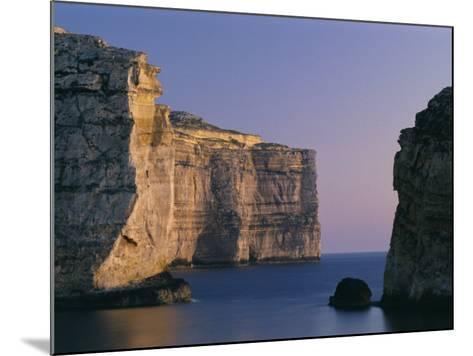 Coastline in the Evening at Dwejra, Gozo, Malta, Mediterranean, Europe-Fred Friberg-Mounted Photographic Print