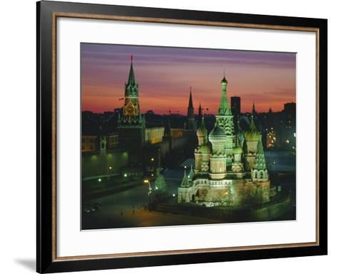 Sunset Over Red Square, the Kremlin, Moscow, Russia-D H Webster-Framed Art Print