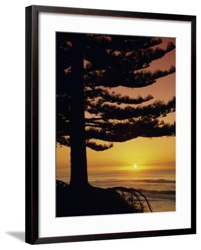 Sunrise, Pine Beach, Gisborne, East Coast, North Island, New Zealand, Pacific-Dominic Webster-Framed Art Print