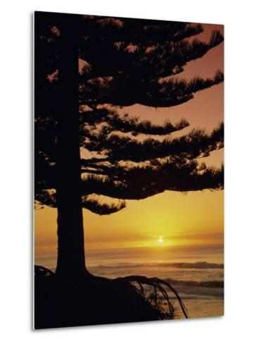 Sunrise, Pine Beach, Gisborne, East Coast, North Island, New Zealand, Pacific-Dominic Webster-Metal Print