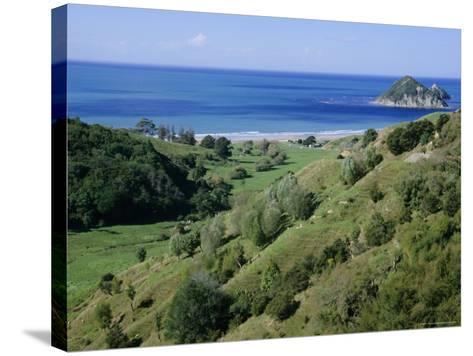 Beach and Coast, Tokomaru Bay, Gisborne, East Coast, North Island, New Zealand, Pacific-D H Webster-Stretched Canvas Print