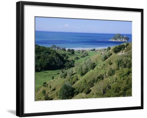 Beach and Coast, Tokomaru Bay, Gisborne, East Coast, North Island, New Zealand, Pacific-D H Webster-Framed Art Print