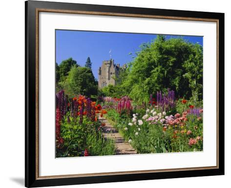 Herbaceous Borders in the Gardens, Crathes Castle, Grampian, Scotland, UK, Europe-Kathy Collins-Framed Art Print