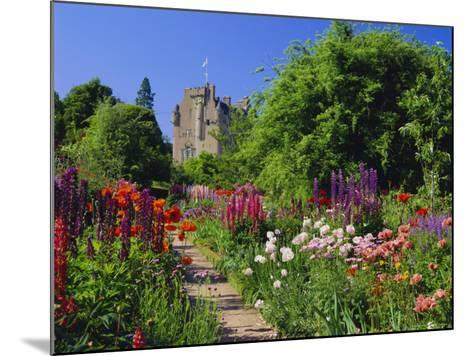 Herbaceous Borders in the Gardens, Crathes Castle, Grampian, Scotland, UK, Europe-Kathy Collins-Mounted Photographic Print