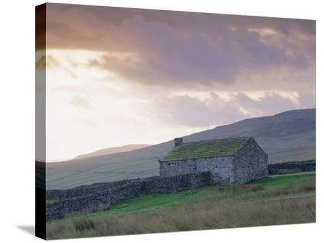 Farm Building, Swaledale, Yorkshire Dales National Park, Yorkshire, England, UK, Europe-Mark Mawson-Stretched Canvas Print