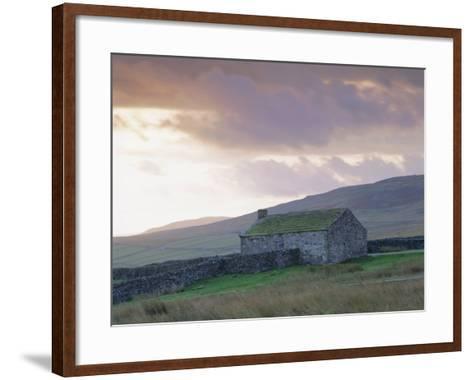 Farm Building, Swaledale, Yorkshire Dales National Park, Yorkshire, England, UK, Europe-Mark Mawson-Framed Art Print