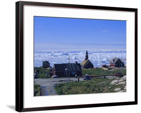 Town of Ilulissat, Formerly Jacobshavn, West Coast, Greenland, Polar Regions-Robert Harding-Framed Art Print