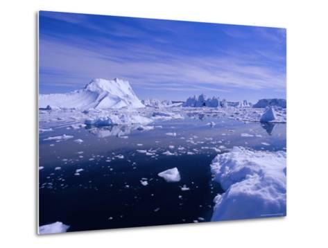 Icebergs from the Icefjord, Ilulissat, Disko Bay, Greenland, Polar Regions-Robert Harding-Metal Print