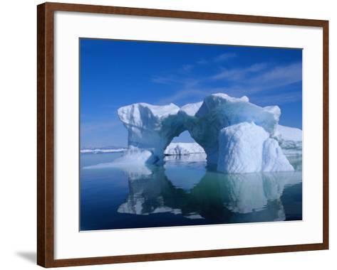 Icebergs from the Icefjord, Ilulissat, Disko Bay, Greenland, Polar Regions-Robert Harding-Framed Art Print