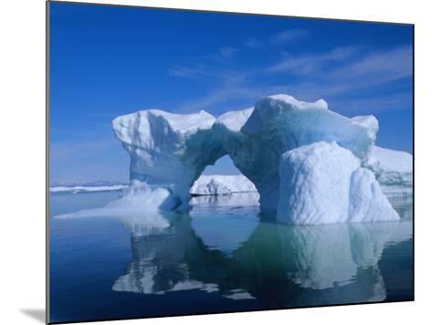 Icebergs from the Icefjord, Ilulissat, Disko Bay, Greenland, Polar Regions-Robert Harding-Mounted Photographic Print