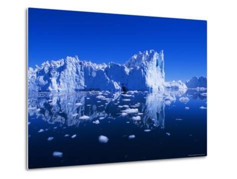 Icebergs from the Icefjord, Ilulissat, Disko Bay, Greenland, Polar Regions-Robert Harding-Metal Print