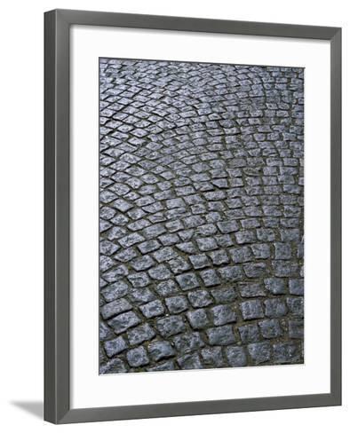 Cobblestones on Street in Aeroskobing, Island of Aero, Denmark, Scandinavia, Europe-Robert Harding-Framed Art Print