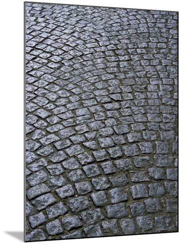 Cobblestones on Street in Aeroskobing, Island of Aero, Denmark, Scandinavia, Europe-Robert Harding-Mounted Photographic Print