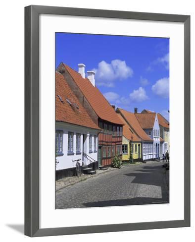 Colourful Houses, Aeroskobing, Island of Aero, Denmark, Scandinavia, Europe-Robert Harding-Framed Art Print