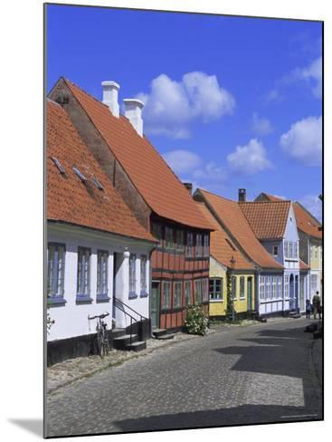 Colourful Houses, Aeroskobing, Island of Aero, Denmark, Scandinavia, Europe-Robert Harding-Mounted Photographic Print