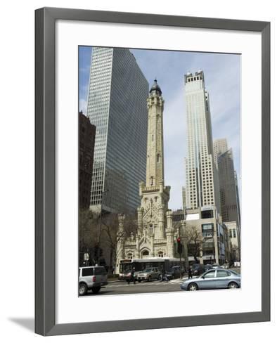 The Historic Water Tower, Near the John Hancock Center, Chicago, Illinois, USA-Robert Harding-Framed Art Print
