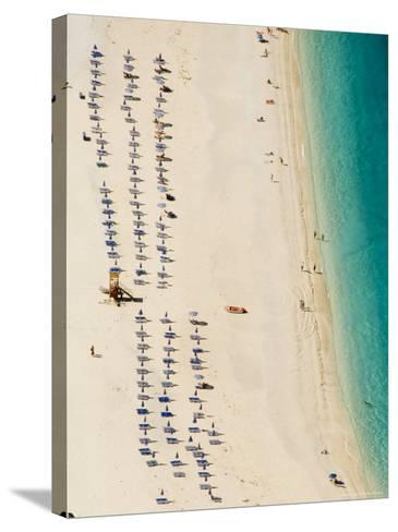 Myrtos Beach, the Best Beach for Sand Near Assos, Kefalonia (Cephalonia), Greece, Europe-Robert Harding-Stretched Canvas Print
