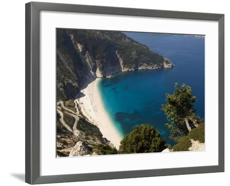 Myrtos Beach, the Best Beach for Sand Near Assos, Kefalonia (Cephalonia), Greece, Europe-Robert Harding-Framed Art Print