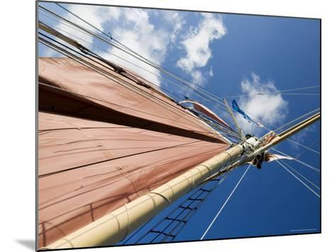 Red Sails on Sailboat That Takes Tourists out for Sunset Cruise, Key West, Florida, USA-Robert Harding-Mounted Photographic Print