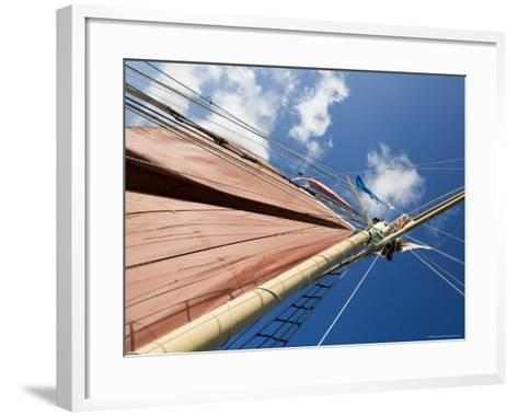 Red Sails on Sailboat That Takes Tourists out for Sunset Cruise, Key West, Florida, USA-Robert Harding-Framed Art Print