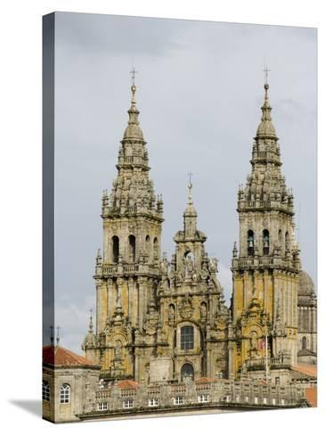 Santiago Cathedral, Unesco World Heritage Site, Santiago De Compostela, Galicia, Spain, Europe-Robert Harding-Stretched Canvas Print