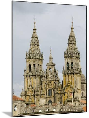 Santiago Cathedral, Unesco World Heritage Site, Santiago De Compostela, Galicia, Spain, Europe-Robert Harding-Mounted Photographic Print