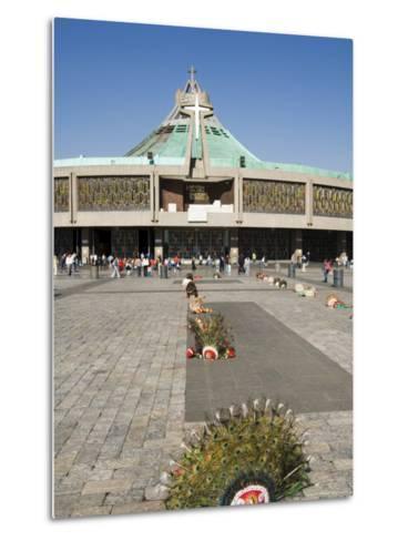 Basilica De Guadalupe, a Famous Pilgrimage Centre, Mexico City, Mexico, North America-Robert Harding-Metal Print